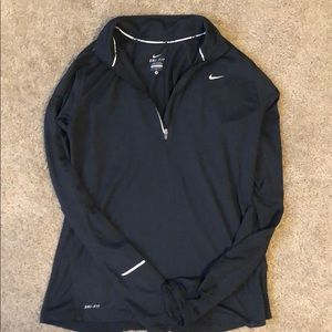Nike dri fit with reflective marks and thumb holes